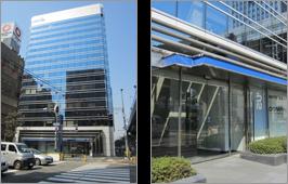 事務所ビルと正面玄関