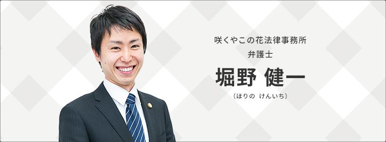 咲くやこの花法律事務所 弁護士 堀野 健一(ほりの けんいち)